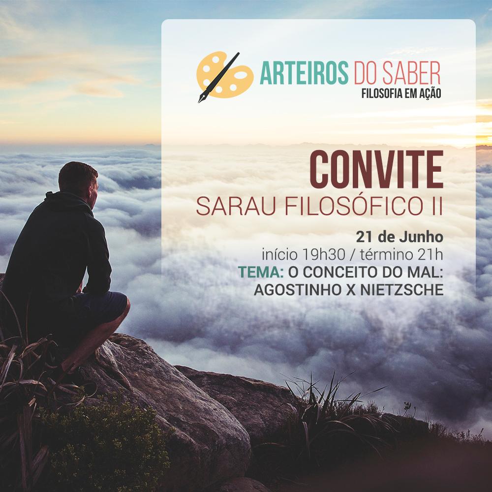 Convite Sarau Filosófico